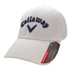 Callaway Mesh Fitted Cap - White/Navy/Silver