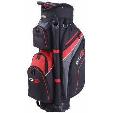 Pro FX Deluxe Cart Bag - Blk/Red/Gry